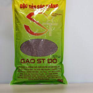 Gạo lứt , Gạo ST đỏ chính hãng của DN Hồ Quang Trí túi 2kg