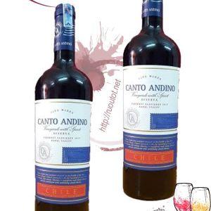 Vang Chile Canto Andino Reserve nhập khẩu