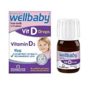 Wellkid vitamin D Drops chống còi xương