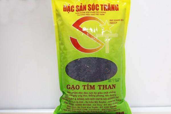 Bao bì gạo tím than của kỹ sư Hồ Quang Cua