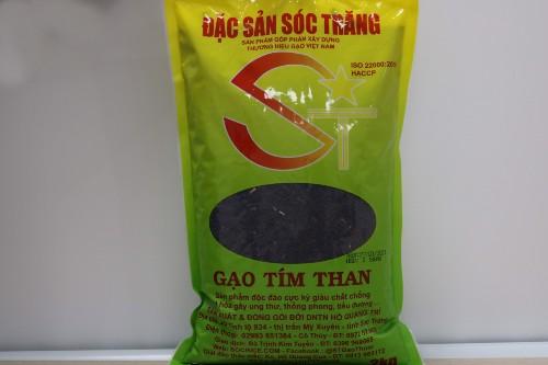Gạo Tím Than Sóc Trăng Của DN Hồ Quang Trí túi 2kg