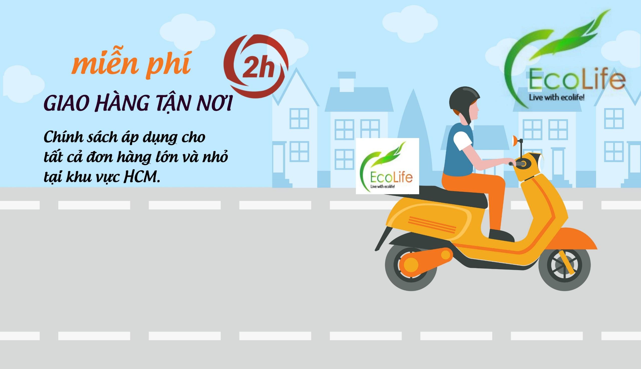 Đại lý gạo EcoLife giao hàng nhanh miễn phí trong 2h