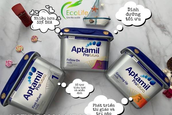 Sữa Aptamil Profutura gồm 3 loại công thức phù hợp với từng thời kỳ phát triển của bé