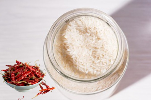 Bảo quản gạo bằng bột ớt